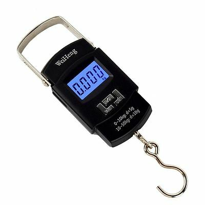 Portable 50kg/10g Hand Held Digital Fish Luggage Weight Electronic Hook Scale JF