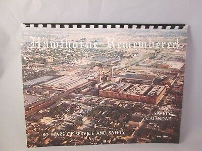 Western Electric Co. Hawthorne Works 1984 Safety Calendar Hawthorne Remembered