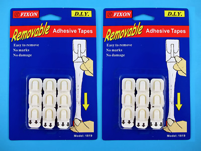 18PC FIXON Removable Adhesive Wall Hooks Clips Picture Hanger No Marks No Damage
