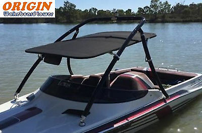 Origin Advancer Wakeboard Tower Black Coated With Flat Tower Bimini Top Package