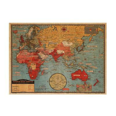 Large World Map Wall Sticker Removable Wall Art Poster Home Office Decor