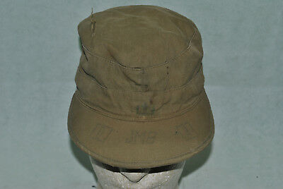 WW2 WWII Field Cap May 5 1945 dated SIze 7 Moruse Cap Company 01-060