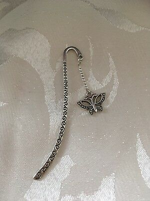 Tibetan Silver Bookmark With Butterfly Charm.