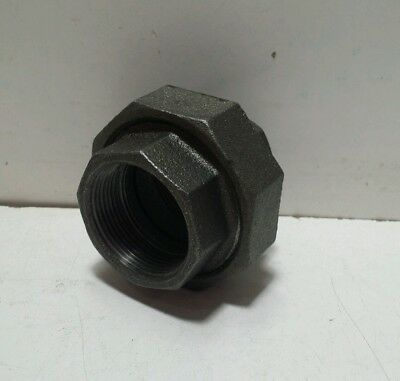 """NEW 1-1/2"""" BLACK MALLEABLE IRON UNION fitting pipe npt"""