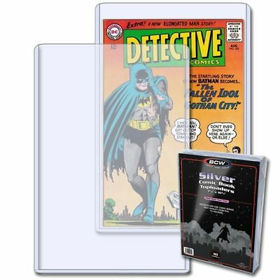 Silver Age Comic Topload Holder By Bcw (1 Pack Of 10) (Brand New) Toploader