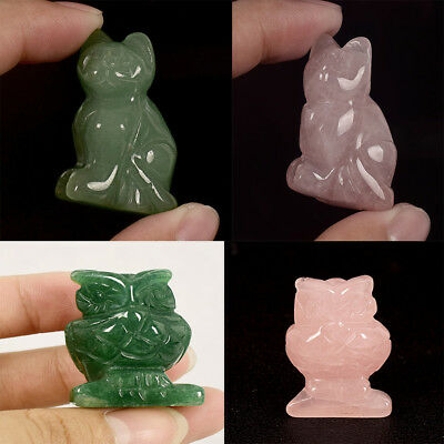 Natural Hand Carving Animal Statue Figurine Jade Home Office Decoration