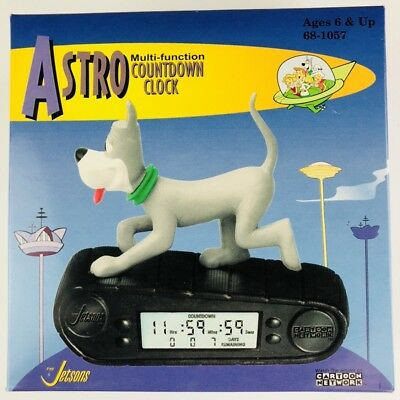 Astro Multi Function Countdown Clock The Jetsons 1999 Cartoon Network Vintage