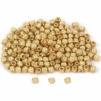 Bali Tube Beads Gold Plated Beading 3x3mm Approx 175