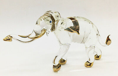 Elephant Blown Glass Art gifts Figurines Animals Hand Blowing Decor Collectible