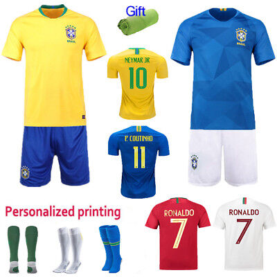 2018 New World Cup Kids Team Suit Short Sleeve Jersey Kit  3-12 Yrs Youth +Socks