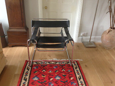 Wassily Style Chair   Design Icon   Very Nice Condition   Marcel Breuer  Armchair