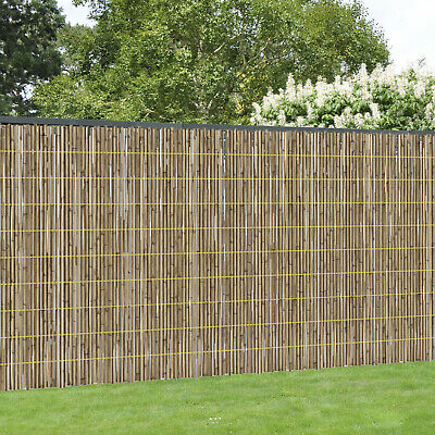 4M PALED NATURAL BAMBOO FENCE GARDEN PRIVACY SCREEN ROLL OUTDOOR FENCING 1M x 4M