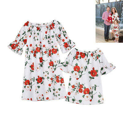 e068022b078f Family Dress Lady Mother Daughter Matching Summer Girl Dress Clothes Outfits  USA