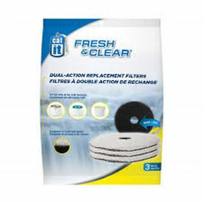 Catit Recharge 3 Filtres Fresh Clear pour Fontaine à Chat Compacte