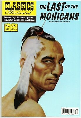 Classics Illustrated Number 34. The Last Of The Mohicans Uk Edition.