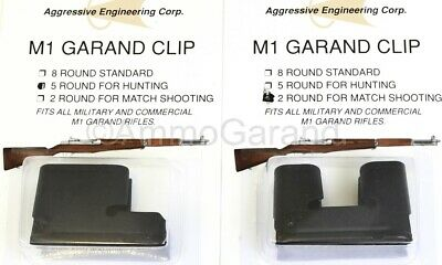 Combo Pack of 2rd 5rd Clips for M1 Garand New US 2 & 5 Round Clip