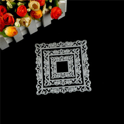 3Pcs Picture Frame Metal Cutting Die For DIY Scrapbooking Album Paper Card ES