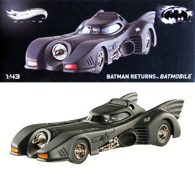 Batmobile from the Movie Batman Returns (1992) in 1:43 Hot Wheels Elite BLY29