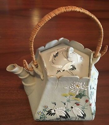 Highly Decorated Antique Japanese Banko Clay Teapot in Pristine Condition