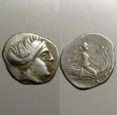 HISTIAIA EUBOIA SILVER TETROBOL___Nymph Seated on Galley___RULED BY PHILISTIDES