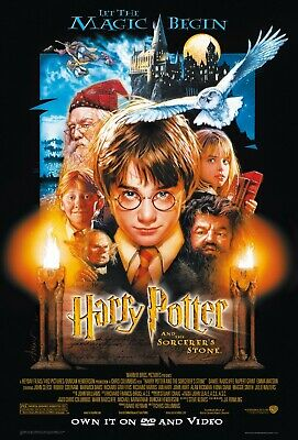 Harry Potter And The Philosopher's Stone Poster Film Art A4 A3 Print Cinema