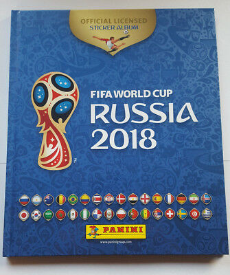 Panini Russia 2018 FIFA Sticker Hardcover Album Exclusive Belgian (670 stickers)