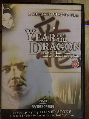 MICKEY ROURKE YEAR OF THE DRAGON 1985 Michael Cimino Triade Thriller RARE UK DVD