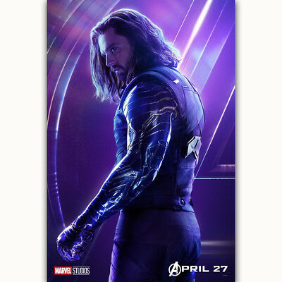 "14x21 24x36"" Avengers Infinity War Winter Soldier Movie Poster Art Silk Decor"
