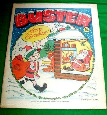 Buster Comic  Christmas Issue   26/12/1981