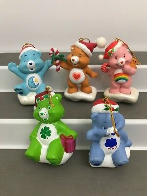 Vintage 2005 Care Bear Christmas Ornaments Lot of 5 TCFC