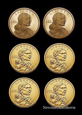 SACAGAWEA ~~ NATIVE AMERICAN ~~ GOLDEN DOLLARS ~~ FROM MINT ROLLS 2018 P/&D