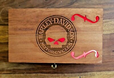 Cigar Box for DIY Project guitar with F hole and Harley Davidson Carving