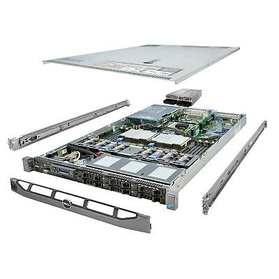 High-End DELL PowerEdge R610 Server 2x 3.06Ghz X5675 6C 128GB 6x 960GB SSD
