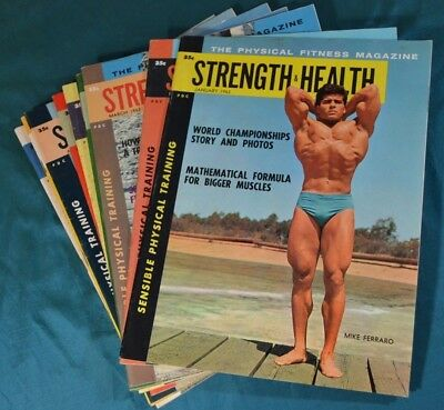 11 Issues of Strength & Health 1963 Physical Fitness Magazine Bodybuilding