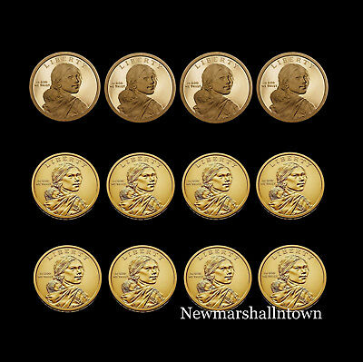 2015 2016 2017 2018 P+D+S Native American Sacagawea Set Proof PD from Mint Roll