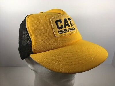 Vintage CAT Caterpillar Diesel Power Mesh Trucker Hat Cap with Patch  Snapback fac0781f896f