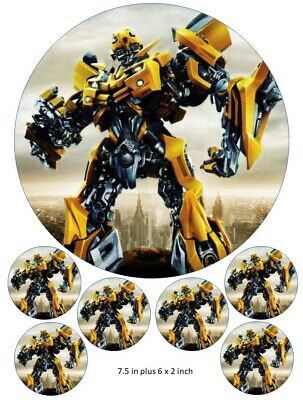 Transformers Bumblebee Cake and Cupcake Toppers, Children's Birthdays up to A3