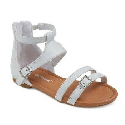 aa4ab16d76a27 Cat  Jack Toddler Girls Winnie Two Piece Shield Gladiator Sandals White 11  ...