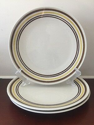 Vintage Taylor Smith and Taylor Ironstone Brown Sparkled Italian 3 Dinner Plate