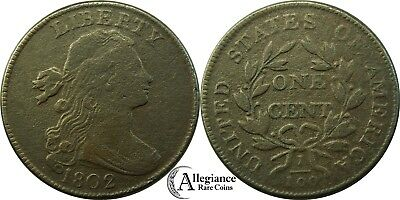 1802 1c Draped Bust Large Cent NICE GRADE S-235 rare old type coin copper penny