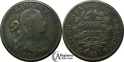 1805 1c Draped Bust Large Cent NICE GRADE S-267 rare old type coin copper penny