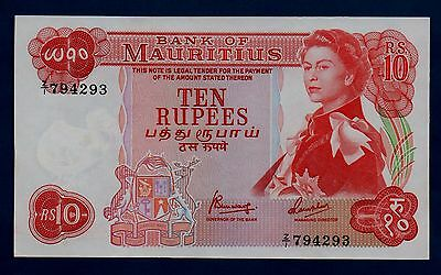 Mauritius Banknote 10 Rupees Replacement ND UNC