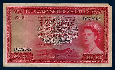 Mauritius Banknote 10 Rupees 1954  F+
