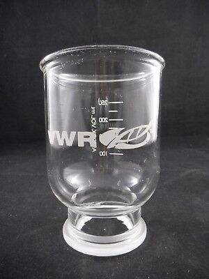 VWR Glass 300mL Graduated Funnel for 47mm Vacuum Filtration Apparatus 28144-608