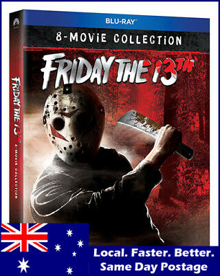 Friday The 13th 8 Movie Complete Collection NEW Box Set (Blu-ray 2018)