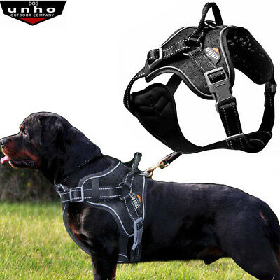 UNHO No Pull Reflective Outdoor Adventure Waterproof Dog Harness Stops Pulling