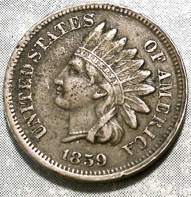 1859 Indian Head Penny XF EXTRA FINE-spot 1stYear A+ LIBERTY & 2+Diamond History