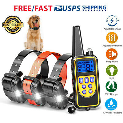 Dog Shock Collar With Remote Waterproof Electric For 875 Yard Pet Training Lot