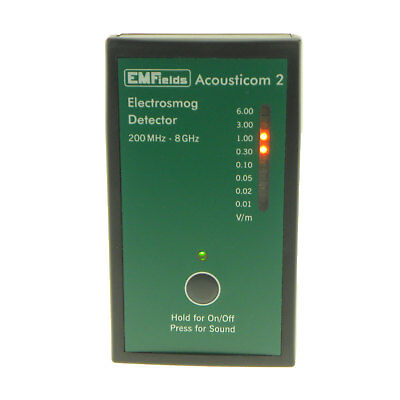EMFields The Acousticom 2 RF EMF Meter Microwave Detector (200MHz to 8GHz)