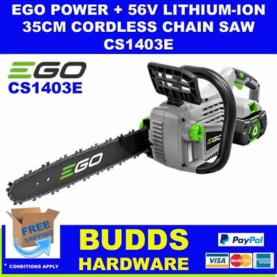 Ego 56V Lithium-Ion 35Cm Cordless Chainsaw With Battery & Charger